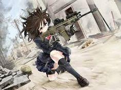 anime girl with gun - Tìm với Google