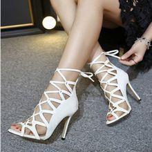 2016 Nueva Moda Gladiador Sandalias Mujeres Sexy Mujer Sandalias Tacones Altos Zapato Blanco Mujer Con Brida Zapatos Femeninos Del Verano(China (Mainland))