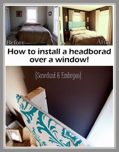 191121577910194380 how to install a headboard over a window   small master bedroom + awkward window placement