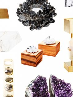 Obsessed with anything mineral~ 9 Stone and Mineral Home Accessories: Love stoned. via @mydomaine