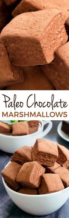 Paleo Chocolate Marshmallows without any unusual ingredients! Honey-sweetened and also AIP and GAPS-friendly. Sweetened with honey. Low Carb Dessert, Paleo Dessert, Dessert Recipes, Weight Watcher Desserts, Recipes With Marshmallows, Chocolate Marshmallows, Homemade Marshmallows, Paleo Chocolate, Chocolate Recipes