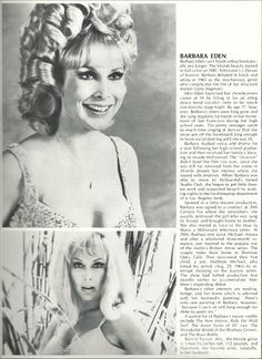 """I Dream of Jeannie"" Barbara Eden"
