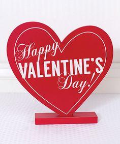 Another great find on #zulily! 'Happy Valentine's Day' Heart Block #zulilyfinds