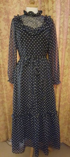 Check out this item in my Etsy shop https://www.etsy.com/uk/listing/291734675/1970s-navy-and-white-spot-victorian