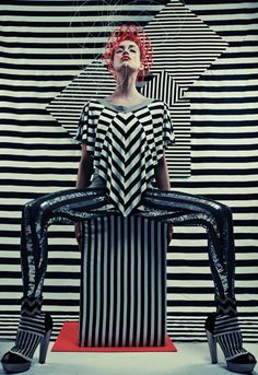 Multi directional Stripes culminated together in the Composition instigate a sense of Movement