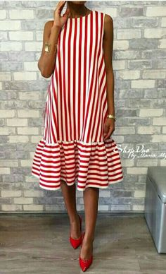 Red and white stripes. Summer fun.