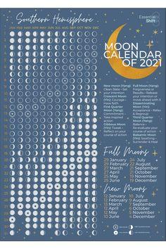 Free Calendar, 2021 Calendar, Pagan Calendar, Bullet Journal Books, Book Journal, Astrology Calendar, Lunar Magic, Moon Phase Calendar, Witchcraft For Beginners