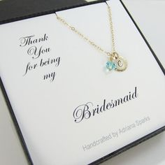 Set of 6 Bridesmaids Necklaces Personalized by AdrianaSparks, $178.00