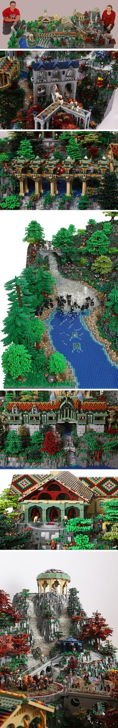Lego Rivendell. My little brothers would love this!   @Heather Creswell Creswell Creswell Creswell Gossett Armstrong