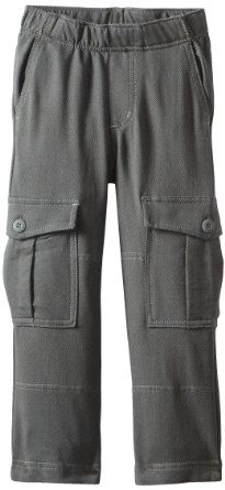 Tea Collection French Terry Cargo Pants, Thunder Herringbone