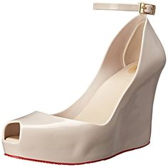 Melissa Womens Patchuli Wedge Sandal Beige 8 B US >>> You can get additional details at the image link.