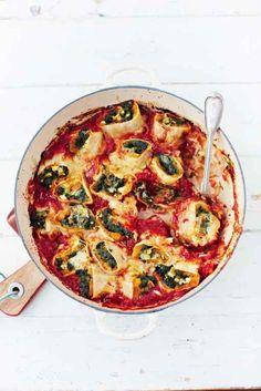 Squash and Spinach Pasta Rolo