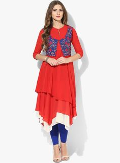 branded kurti with jacket style, best ladies kurtis brands