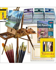 HARDWOOD French Easel, Paints, Canvases, Brush Sets, Drawing Supplies and More This listing includes all of the following: Product Details: OUR FRENCH EASEL IS HARDWOOD, ARTIST QUALITY, AND FULLY ASSE