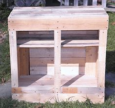 Upcycle Us: A kitchen cabinet made from shipping pallet