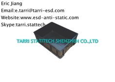 Black ESD Storage Box , ESD Storage Container For Anti Static Protection Used