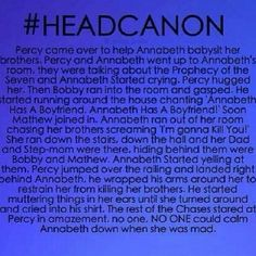 """ no one,NO ONE could came annabeth down when she was mad""!!"