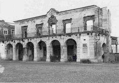 Aspecto da Câmara Municipal aquando do incêndio de 1910