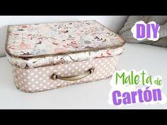 DIY MALETA DE CARTÓN PASO A PASO FÁCIL I Manualidades de reciclaje de cartón ♥ Qué cositas - YouTube