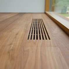 Idea for wood floor vents. Take extra pieces and make vents to match the flooring. Detail Architecture, Interior Architecture, Interior And Exterior, Architecture Plan, Interior Minimalista, House Ideas, Barndominium, Home Projects, Home Staging