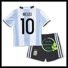 Fotballdrakter Argentina Barn MESSI 10 Hjemmedraktsett UEFA Euro 2016