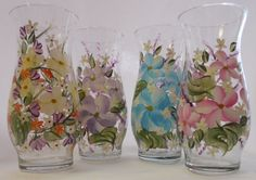 Hand Painted Vase  Spring Garden  Assorted Colors by EverMyHart, $19.95