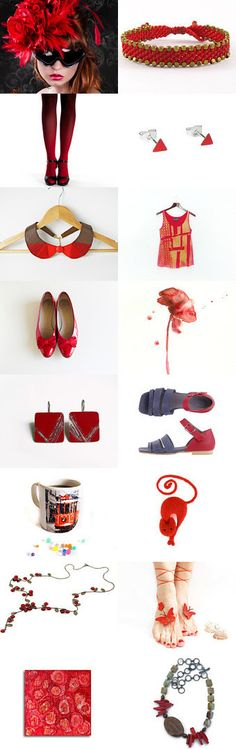 Hot and Red  by Elinor Levin on Etsy--Pinned with TreasuryPin.com