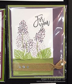 Thoughtful Branches display cards from Creative Connections event shared by Dawn Olchefske #dostamping #stampinup