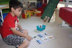 Montessori Language - Pink, Blue and Green Series