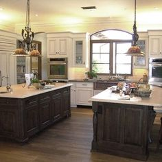 Large Kitchen With Double Island Design, Pictures, Remodel, Decor and Ideas