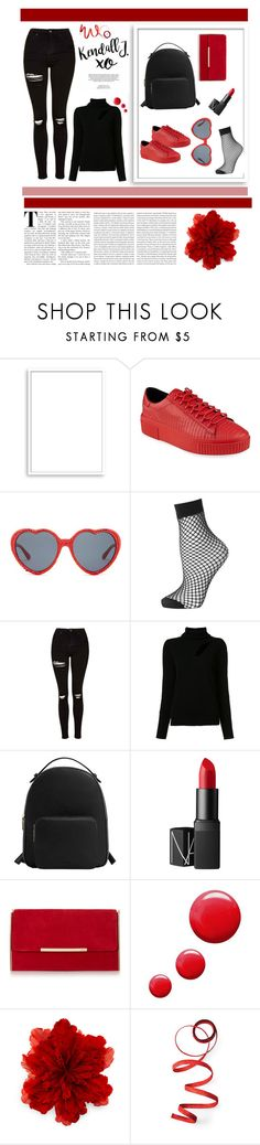 """Red xoxo"" by fridaadyb ❤ liked on Polyvore featuring Bomedo, Kendall + Kylie, Betsey Johnson, Topshop, A.L.C., MANGO, NARS Cosmetics, xO Design, Gucci and Oris"