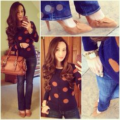 Navy Blue and Polka Dots: #polkadot #cardigan #pimandlarkin via #piperlime, Elisa #pumps via #solesociety, #rockandrepublic denim #kohls, #concealedcarrie satchel, #croton watch #ootd #fallstyle #wiwt #fashion #fashionista #whatiwore #lookoftheday #instafashion #instastyle #igfashion #igstyle #mystyle #currentlywearing #instalook #hapa #followme #stylediaries http://www.concealedcarrie.com/