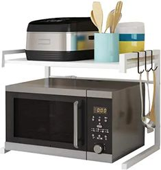 Amazon.com : Adjustable Microwave Stand, Toaster Oven Rack Expandable Microwave Stand, Microwave Shelf, Countertop Microwave Oven, Kitchen Items, Kitchen Storage, Sponge Holder, Oven Racks, Toaster, Countertops