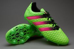 adidas ACE 16.2 FG/AG - Solar Green/Shock Pink/Core Black