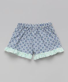 Azure Bella Ruffle Shorts - Toddler & Girls by Max & Dora #zulily #zulilyfinds