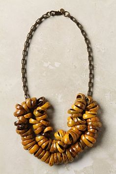 Anthropologie coconut shell  necklace.