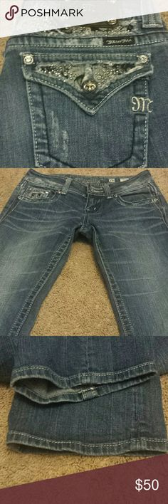 """Miss Me Boot Cut Bling Jeans! Miss Me Boot Cut Bling Jeans! Size 26, inseam 33"""". EUC. Miss Me Jeans Boot Cut"""