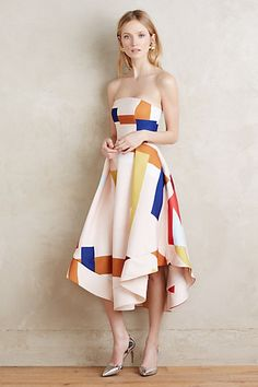 Strapless Museo Dress #anthropologie