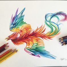 175-Rainbow Phoenix! The Tattoo that I want to get!!