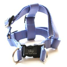 Engraved Personalized Webbing Dog Harness  *18 colors