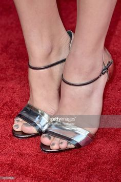 Actress Chloe Grace Moretz, shoe detail, attends the premiere of Universal Pictures' 'Neighbors 2: Sorority Rising' at the Regency Village Theatre on May 16, 2016 in Westwood, California.  (Photo by Alberto E. Rodriguez/Getty Images)