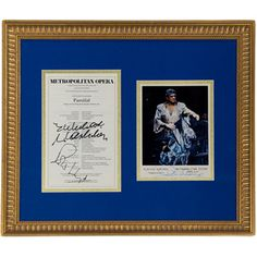 This signed photograph of Plácido Domingo as Parsifal, framed with an original Metropolitan Opera program, just one of the framed opera collectibles at the Met Opera Shop. #placidodomingo #metopera #metoperashop