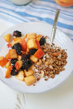 Ginger and Cashew Granola with Gingery Summer Fruits and Honey Almond ...