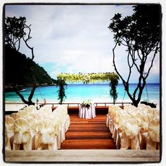 Perfect setting for a wedding. The Racha, Thailand www.islandescapes.com.au