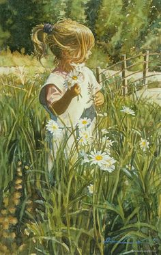 Steve Hanks Paintings ***Looks just like a picture of my daughter in the field at her age...eery