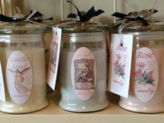 Lovely soy Candles ~ made by Aroha Soaps NZ Soy Candle Making, Soy Candles, Soaps, Vanilla, Crystals, Antiques, How To Make, Handmade, Hand Soaps
