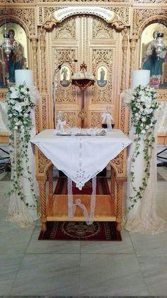 Λαμπάδες γάμου με κρεμαστή σύνθεση Orthodox Wedding, Church Wedding, Candles, Valentines Day Weddings, Candy, Candle Sticks, Candle