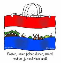 Bossen, watrr, polder, duinen, strand, wat ben je mooi Nederland! - Jabbertje