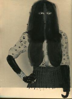 Dietmar Busse, Black Madonna 3, Fauna and Flora 2013, Unique painted gelatin silver print, 2013