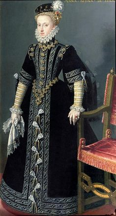 Alonso Sánchez Coello ( Alonso Sanches Coelho) (1531-1588) — Anne of Austria. Queen of Spain  (430x800)